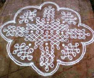 Rangoli: rangoli with dots