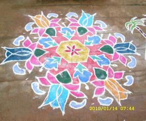 Margazhi kolam Lotus