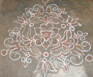 Rangoli: Friday Kavi kolam