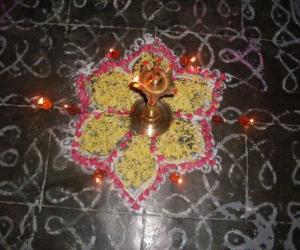 Rangoli: Deepam on a friday