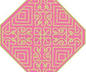 Rangoli: Pastel colors - Thread strokes - Birds : Color Scheme