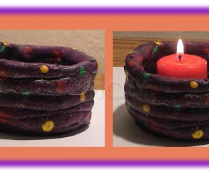 Rangoli: Candle holders