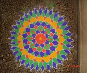 Rangoli: colourful petals