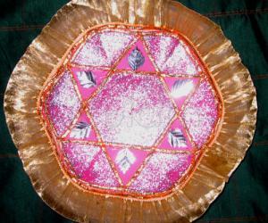 Rangoli: table decoration plate