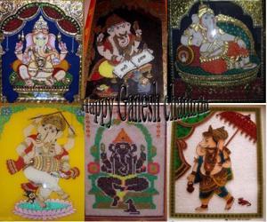 Rangoli: Ganesh chaturthi greetings
