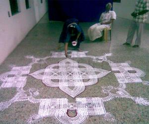 Traditional padikolam