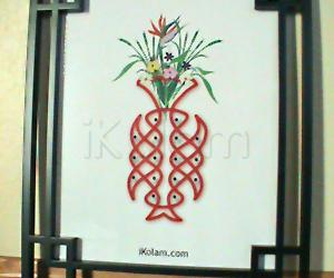 Rangoli: Rangoli - framed art