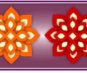 Rangoli: Layered flowers rangoli
