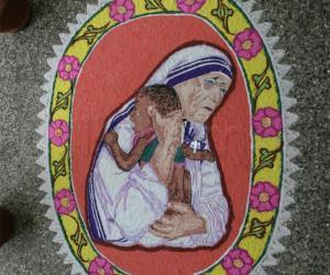 Rangoli: Women's Day celebration - Mother Terasa