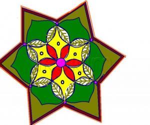 Rangoli: green rangoli