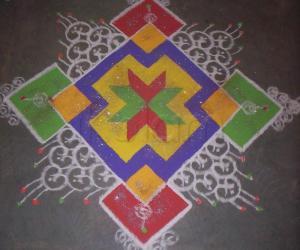 Rangoli: Prize winning rangoli