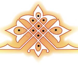 Rangoli: simple design rangoli