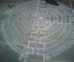 Traditional pongal kolams
