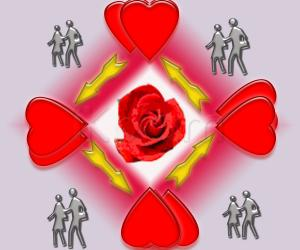 Rangoli: valentine day  special