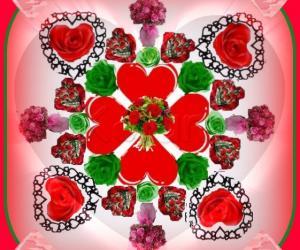 Rangoli:  Valentine Day Wishes