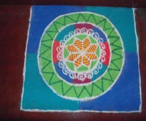 Navarathri rangoli 1