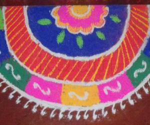 Rangoli: Navrathri rangoli 3