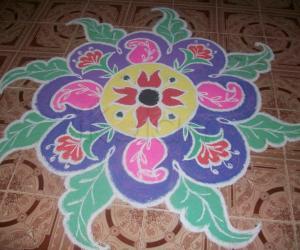 flower rongoli