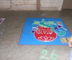 Rangoli: vinagayar in the pot