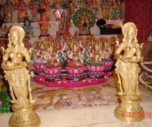 Rangoli: Ashtalakshmi display in Navaratri Golu 2010