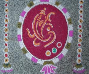 Rangoli: Happy Ganesh Chathurthi!!!