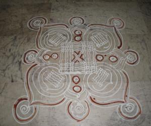Rangoli: kolam drawn on 4th april 10 at our temples