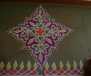 Rangoli: Third Day of Navrathri Maakolam