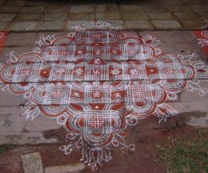 Rangoli: Narasimha jeyanthi kolam