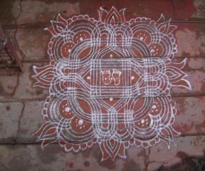 Rangoli: navrathri kolam 2
