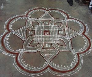 Traditional  aadivelli kolam