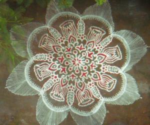 lotus buds rangoli