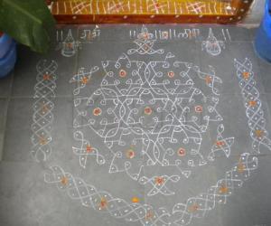 Rangoli: my rangoli on ganesh chaturti