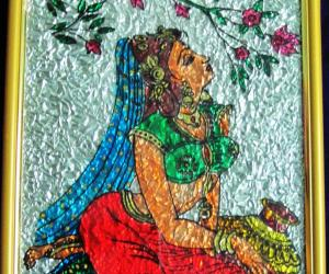 Rangoli: Dreaming Girl