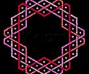 Hexagonal Chikku kOlam - 7
