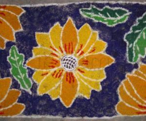 Rangoli: Sunflower Flowers