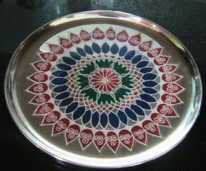 rangoli plate