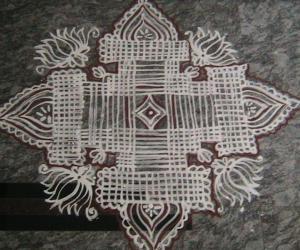 Rangoli: varamahalakshmi pooja kolam 1