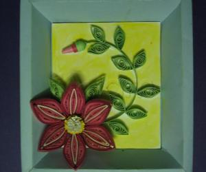 Rangoli: Quilled flower