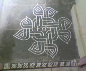 Rangoli: Ganesh Chaturthi Wet Arisi Kolam