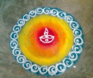 Rangoli: Diwali Morning 2009 without the lamps....