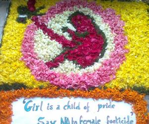 Rangoli: Pookolam Competition @ our office