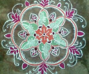 Rangoli: Saraswathi Special Kolam