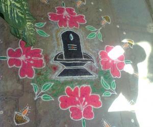 Shivaratri rangoli