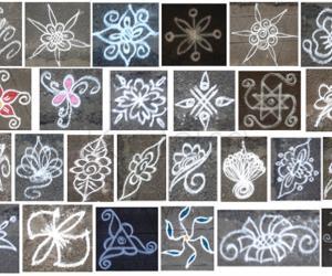 Rangoli: Kutty poo kolangalin anivaguppu - 2 (collage of kutty poo kolams)