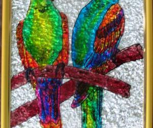 Rangoli: Love Birds