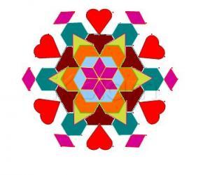 Rangoli: Love flower
