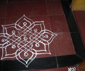 Rangoli: Navarathri day-3
