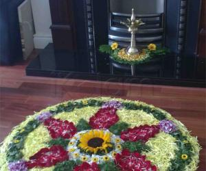 Rangoli: My pookalam for onam 2010