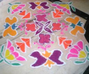 Wild flowers - dotted rangoli