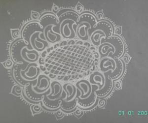 Rangoli: Paisley rangoli